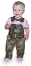 ROUND HOUSE Girl's Pink Short Sleeve T-Shirts (Inf & Tod) w/ Mossy Oak Break-Up Trim