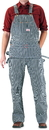 ROUND HOUSE Zip-Off Pouch Stripe Carpenter Overalls (11 oz. - full dbl knees)