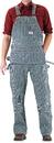 ROUND HOUSE Zip-Off Pouch Stripe Carpenter Overalls (11 oz. - full dbl knees)