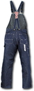 ROUND HOUSE Low Back Blue Denim Zipper Fly Overalls (12 oz. denim)