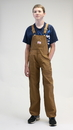 ROUND HOUSE Youth Brown Duck Bib Overalls (Sizes 8-18, 12 oz. duck)