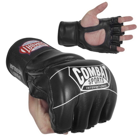 Combat Sports CSI Synthetic Leather Pro-Style Grappling Gloves - Black, Price/1 PAIR