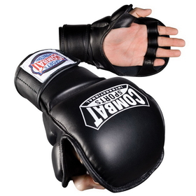 Combat Sports CSI Synthetic Leather Safety Training Glove - Black, Price/1 PAIR