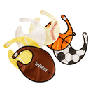 GOGO Baby Boy Sports Ball Bibs, Cute Ball Bib, 1 Pc, Velcro Closure, 3 Layers Water Resistant Bib, Soccer, Basketball
