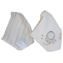 GOGO Reversible Soft Bibs With Double Snaps, Cotton, 1 Pc
