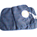GOGO 1 Pc Waterproof Bib For Senior, Adult Bib w/ Velcro Closure, Tartan Plaid