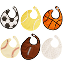 GOGO 6 Pieces Sports Ball Baby Bibs Soccer Basketball and More 3 Layers Water Resistant Bib