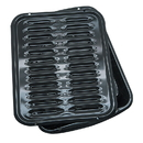 Range Kleen BP102X Porcelain Broiler Pan & Grill 13x16