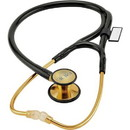 MDF 797DDK-11 22k Gold ER Premier Stethoscope-Adult/Pediatric-Black