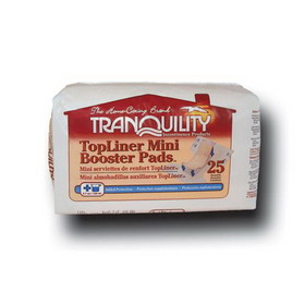 Tranquility 2072 TopLiner Mini Booster Pad 25/Bag