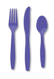 Creative Converting 010426 Purple Cutlery (Prem) Cutlery Assortment (12pks Case)