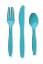 Creative Converting 010616 Bermuda Blue Cutlery (Case of 288)
