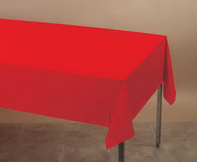 Creative Converting 011031 Classic Red Plastic Tablecover 54 X 108 Solid (12pks Case)