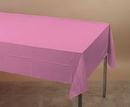 Creative Converting 011342 Candy Pink Plastic Tablecover 54 X 108 Solid (Case of 12)