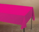 Creative Converting 01413B Hot Magenta Plastic Tablecover 54 X 108 Solid (Case of 24)