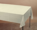 Creative Converting 01489 Ivory Plastic Tablecover 54 X 108 Solid (Case of 12)
