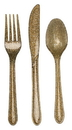Creative Converting 019805 Glitz Gold Assorted Plastic Cutlery with Glitter (Case of 288)