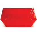Creative Converting 053419 Translucent Red TrendWare Large Square Bowl (Case of 6)