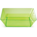 Creative Converting 053431 Translucent Green TrendWare Large Square Bowl (Case of 6)