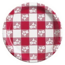 Creative Converting 05686 Red Gingham Luncheon Plate (Case of 96)