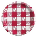 Creative Converting 05886 Red Gingham Dinner Plate (Case of 96)