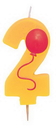 Creative Converting 104202 2 - Molded Numeral Candle with balloons (Case of 6)