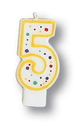 Creative Converting 104564 Polka Dot Candle 5 (Case of 6)