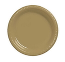 Creative Converting 28103011B Glittering Gold Luncheon Plate, Plastic, Solid Bulk (Case of 600)