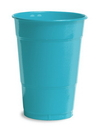 Creative Converting 28103981 Bermuda Blue Plastic Cups, 16 Oz Solid (Case of 240)