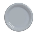 Creative Converting 28106031 Shimmering Silver Banquet Plate, Plastic Solid (Case of 240)