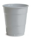 Creative Converting 28106071 Shimmering Silver Plastic Cups, 12 Oz Solid (Case of 240)