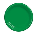 Creative Converting 28112031 Emerald Green Banquet Plate, Plastic Solid (Case of 240)