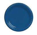 Creative Converting 28113721 Navy Dinner Plate, Plastic Solid (Case of 240)