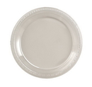 """Creative Converting 28114121 Clear 9"""" Plastic Dinner Plates (Case of 240)"""