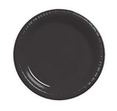 Creative Converting 28134011 Black Velvet Luncheon Plate, Plastic Solid (Case of 240)