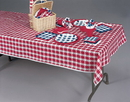 Creative Converting 28188 Red Gingham Tissue/Poly 54x108 Tablecover (Case of 12)