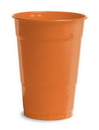 Creative Converting 28191081 Sunkissed Orange Plastic Cups, 16 Oz Solid (Case of 240)