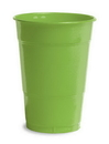 Creative Converting 28312381 Fresh Lime Plastic Cups, 16 Oz Solid (Case of 240)
