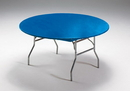 """Creative Converting 37242 Royal Blue Stayput Plastic 60"""" Round Tablecover (Case of 12)"""