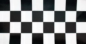 "Creative Converting 37297 Black Check Plastic Tablecover Stay Put 60"" Round (12pks Case)"