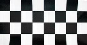 "Creative Converting 37297 Black Check Plastic Tablecover Stay Put 60"" Round (12pks Case)"