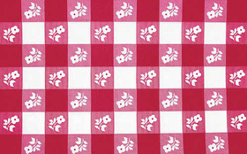 Creative Converting 37388 Red Gingham Plastic Tablecover Stay Put 30 X 96 (12pks Case)