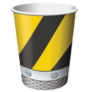 Creative Converting 375590 Construction Birthday Zone 9 oz. Hot/Cold Cups (Case of 96)