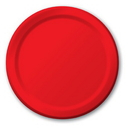 """Creative Converting 471031B Classic Red 8.75"""" Dinner Plates (Case of 240)"""