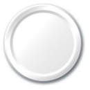 Creative Converting 50000B White Banquet Plate, Solid (Case of 240)