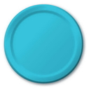 Creative Converting 501039B Bermuda Blue Banquet Plate, Solid (Case of 240)