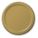 Creative Converting 50103B Glittering Gold Banquet Plate, Solid (Case of 240)