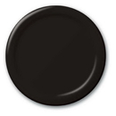 Creative Converting 50134B Black Velvet Banquet Plate, Solid (Case of 240)