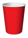 Creative Converting 561031B Classic Red Hot/Cold Cup 9 Oz, Solid (Case of 240)