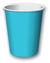Creative Converting 561039B Bermuda Blue Hot/Cold Cup 9 Oz, Solid (Case of 240)